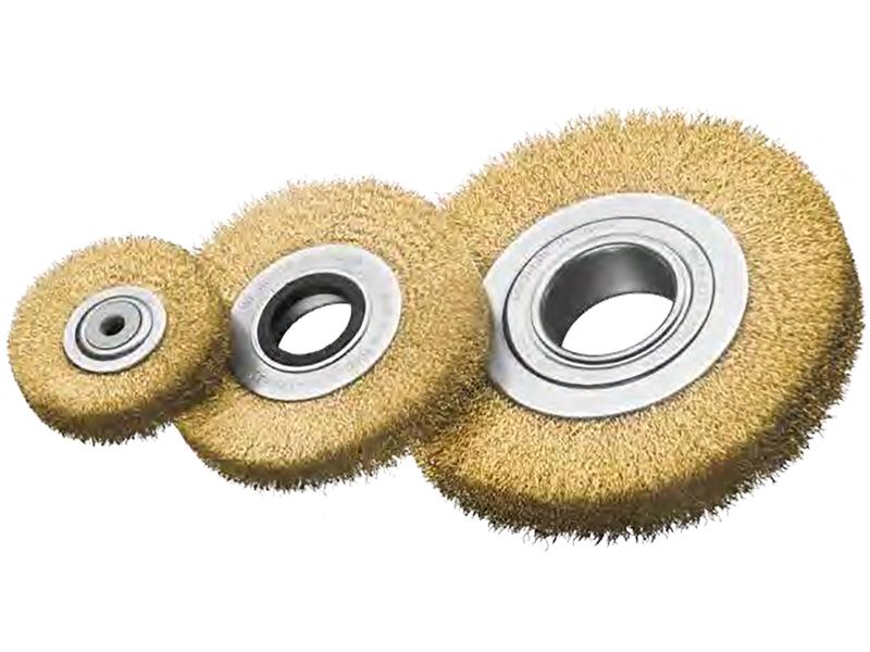 Однорядные цилиндрические щётки с латунной гофрированной проволокой essmann