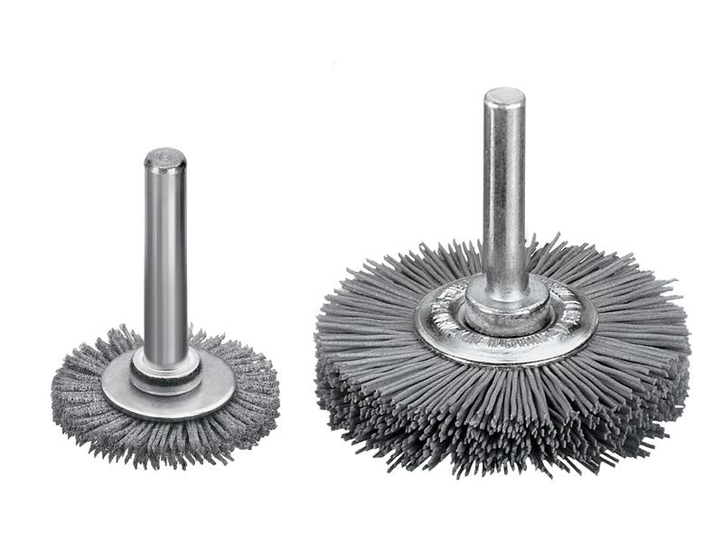 Щетки цилиндрические с хвостовиком Ø 6 мм, волокно с карбидом кремния Lessmann (Kronburste)