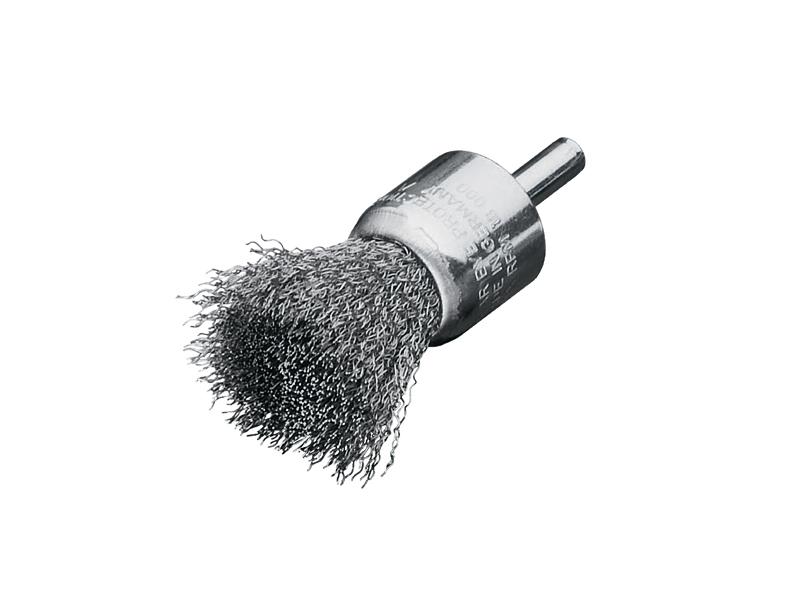 Щетки концевые с хвостовиком Ø 6 мм, стальная проволока Lessmann (Kronburste)
