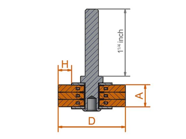 Размеры цилиндрические щетки с хвостовиком Lessmann